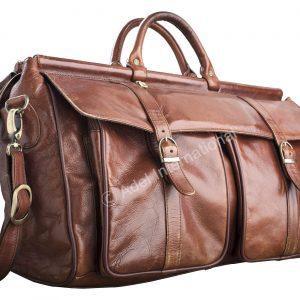 A549- Elegant Overnight Leather Bag