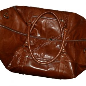 A564- Cow VT Leather Large Travel & Duffel Bag