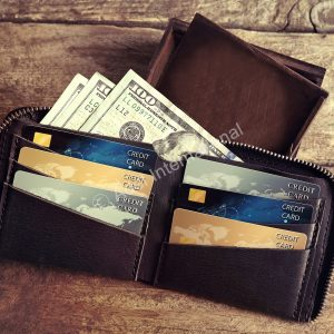 A7- Raw Bi-Fold Zipper Wallet